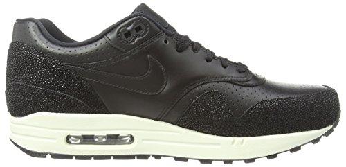 Nike  Air Max 1 Leather Pa, Chaussures de Running Compétition homme Black (Black/Black/Black/Sea Glass 001)