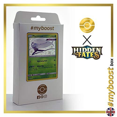 Phemorosa SV5/SV94 Variocolor - #myboost X Sun & Moon 11.5 Hidden Fates - Box de 10 cartas Pokémon Inglesas