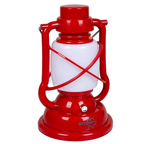 Beliebte Leuchten-kollektion (Bo-Camp 5818898 Nostalgie Sturm Laterne LED Camping Lampe Zelt Garten Leuchte Outdoor Dimmbar 120 Lumen Rot)