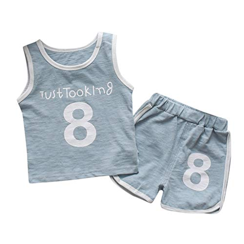Cuteelf Baby Kleidung, Kids Baby Jungen Outfits Set Letter T Shirt Tops+Camouflage Shorts