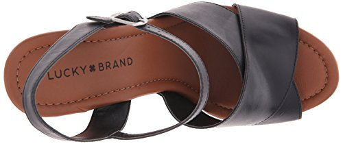 Lucky Brand Mabaz Femmes Cuir Sandale Black