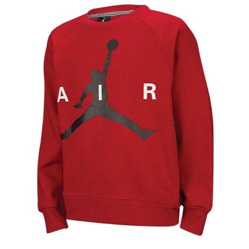 Jordan Big Jungen (8-20) Nike Jumpman Crew Sweatshirt-Black, Jungen, rot, Small