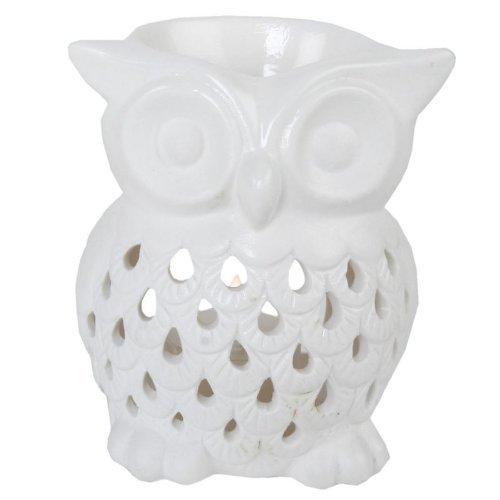 fragrant-oil-burner-tealight-holder-owl-design-white-tinas-collection