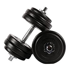 MSPORTS Kurzhantel-Set 30 kg (2 x 15 kg) Hantel
