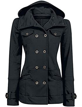 Forplay Cushy Coat Felpa jogging donna nero XXL