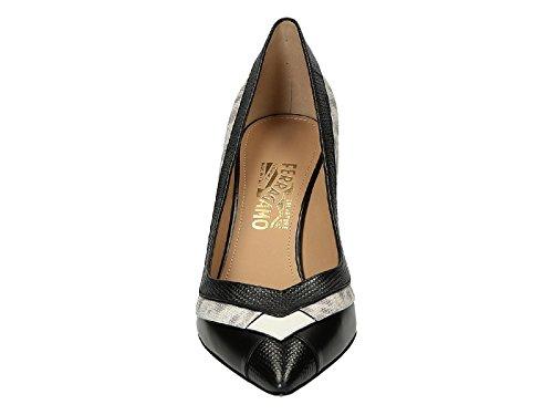 Chaussures à talon Salvatore Ferragamo en Cuir veau noir - Code modèle: SUSI70STRI 0631380 Noir