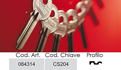 Schlüssel Silca Messing cisa-4Spine DX -