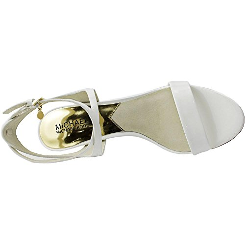 Michael Michael Kors Kaylee Mid Cuir verni Sandales Optic White