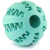 Cdet Juguetes para perros mascotas pelota de sandía resistente al caucho perro limpio tartar bola interactiva para mascotas perros masticar jugar traning ejercicio,Azul
