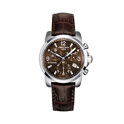 Certina Damen-Armbanduhr XS Certina DS Podium Lady Chronograph Leder C001.217.16.297.00