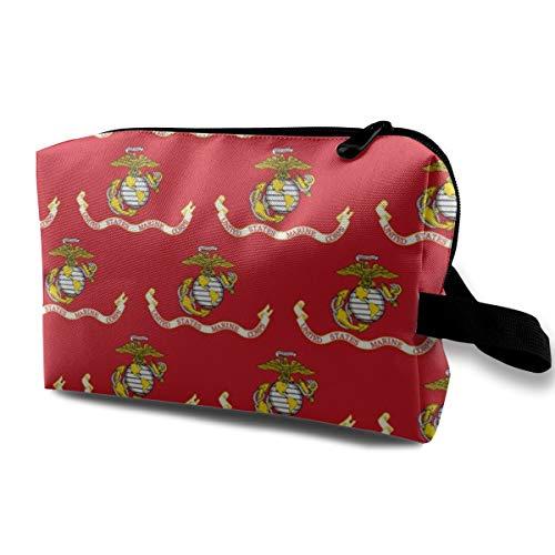 US Marine Corps Flagge Tragbare Reise Make-Up Kosmetiktaschen Organizer Multifunktions Fall Taschen für Frauen -
