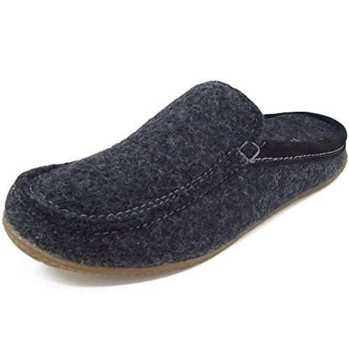 Living Kitzbühel - Moccassin Pantoffel mit Fußbett, Pantofoleda Uomo Nero