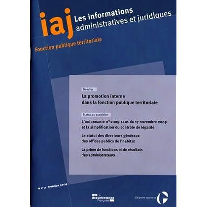 Informations administratives et juridiques n°11-2009)