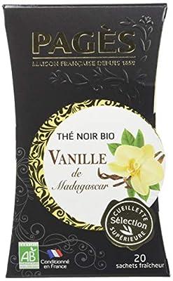 PAGÈS Thé Noir vanille de Madagascar Bio 20 Sachets parent