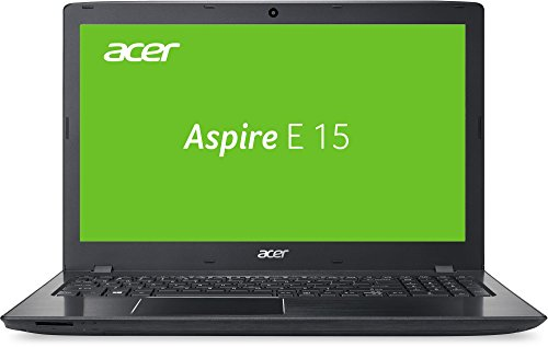 Acer Aspire E 15 (E5-575G-79P6) 39,62 cm (15,6 Zoll Full HD) Laptop (Intel Core i7-7500U, 8GB RAM, 1000GB HDD, 256GB SSD, Nvidia GeForce 940MX (2GB GDDR5 VRAM), Win 10 Home) schwarz