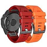 NotoCity Armband kompatibel mit Garmin Fenix 5 Plus Uhrenarmband Easy Fit 22mm Silikonband Ersatz für Garmin Instinct/Garmin Fenix 5/Fenix 5 Plus/Forerunner 935/Approach S60/Quatix 5