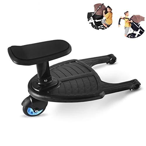 *Tandou Buggyboard mit Sitz, Buggy Board am Kinderwagen Anzubringen – Abnehmbar und Zusammenbauen (Blau)*