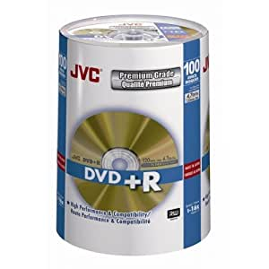 JVC DVD+R 100 PACK SPINDLE