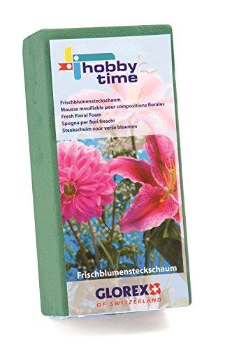 Glorex 6 3804 721 Steckschaum, für Frischblumen, ca. 23 x 11 x 7,5 cm