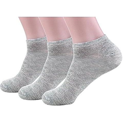 Zando da uomo Casual in cotone Athletic Plus Size caviglia calzini taglio basso barca linea