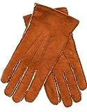 EEM Handschuhe aus echtem Lammfell LIAM für Herren, mit warmen Lammfell gefüttert, tobacco L