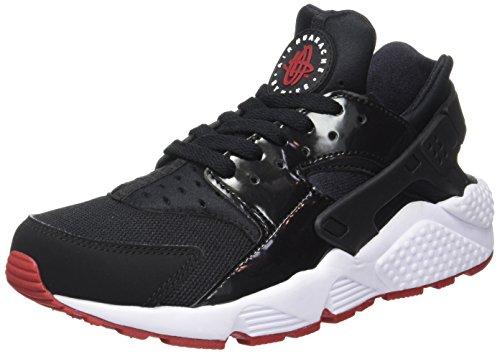 Nike Air Hurache, Baskets Basses Homme Noir (Black/Gym Red-White)