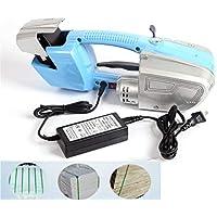 Máquina de flejado eléctrica portátil Máquina de flejado de herramientas de soldadura de plástico, adecuada para correa de acero plástico PET/PP, tensor de correa de embalaje automático 100V-240V