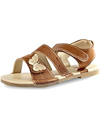 Beanz Brit Baby Beige Man Made Leather Sandal For Girls Size 25 EU
