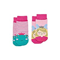 Joules Baby Girls Two Pack Character Socks - Frog