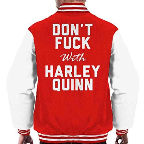 Coto7 Dont Fuck with Harley Quinn Men's Varsity Jacket