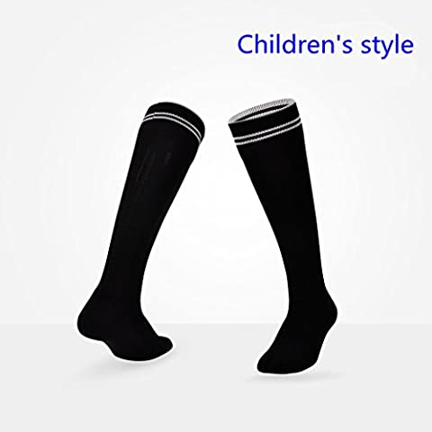 Kids Football Soccer / Rugby / Hockey Sports Chaussettes pour enfants Âge 7-11 ans (Noir)