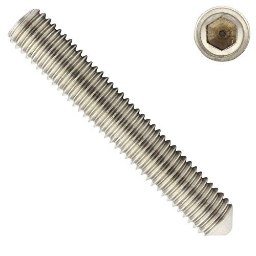 Gewindestifte mit Innensechskant und Spitze - M4x20 - ( 40 Stück ) - Madenschrauben - DIN 914 ( ISO 4027 ) - aus rostfreiem Edelstahl A2 (V2A) - SC914 - SC-Normteile
