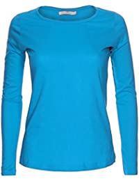 33b5c430a31 LessThanTenQuid Missloved ® Ladies Womens Plain Long Sleeve Round Neck Top  UK Sizes 8-18