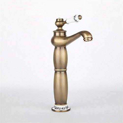 RY@ Latón Grifo de Lavabo /Grifo Moderno/Grifos Baño de Latón/Grifo Lavabo/Grifo Baño /Grifo de lavabo/Rústico Baño Grifo El agua fría del grifo de cobre válvula cerámica