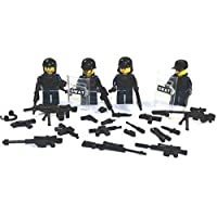 10 Custom Köpfe tan Sturmhaube für LEGO® Figuren Bankräuber Swat Polizist 30