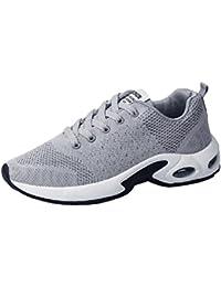brand new 7d9b8 ea59c BYSTEScarpe Uomo, Nuovo Stile Lace-up Scarpe Sportive Scarpe da Corsa,  Traspirante Stivaletti Sneakers, Assorbimento degli Urti…