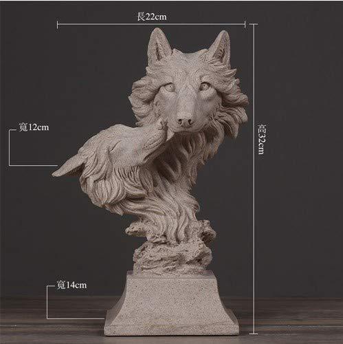 Figura Estatuas Esculturas Sandstone Series Lobos