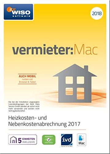 WISO vermieter:Mac 2018 - Heizkosten- und Nebenkostenabrechnung 2017 (frustfreie Verpackung)