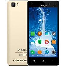 Cellulari offerte V·Mobile A10 Android 7 Quad Core Smartphone offerta Del Giorno 5 Pollici 8GB ROM Fotocamera 5MP HD Supporta Dual SIM WIFI GPS Bluetooth Batteria 2800mAh (Oro)