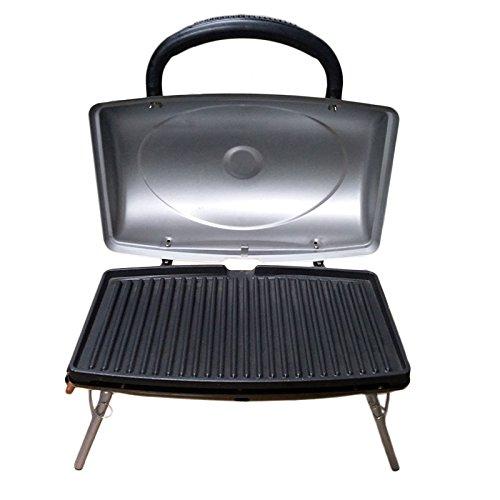 SLP tskbuc Notebook-Grill Gasgrill, 48x 30x 35cm, silber