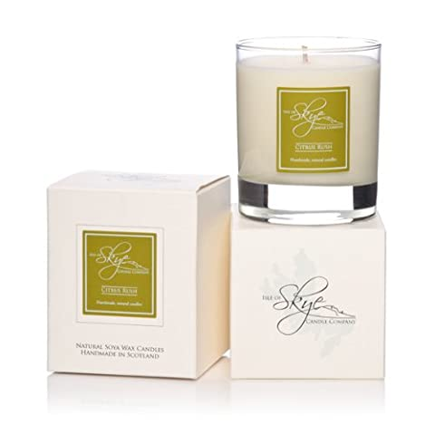 Isle Of Skye Candle In Glass - CITRUS RUSH. 30hr. Natural Soy Wax. Hand Made. Gift Boxed