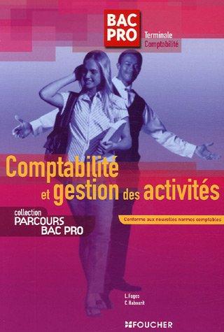 Comptabilité et gestion des activités - Tle Comptabilité