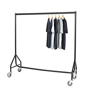 reinforced heavy duty clothes rail with heavy duty wheels. Black Bedroom Furniture Sets. Home Design Ideas