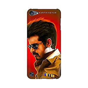 Mobicture Actor Siva Karthikeyan in His Police Based Movie Vector Designer Printed Hard Case Cover - [Hard Poly Carbonate] [Slim-fit] [Shock-Proof] Back Cover for Apple iPod Touch 6