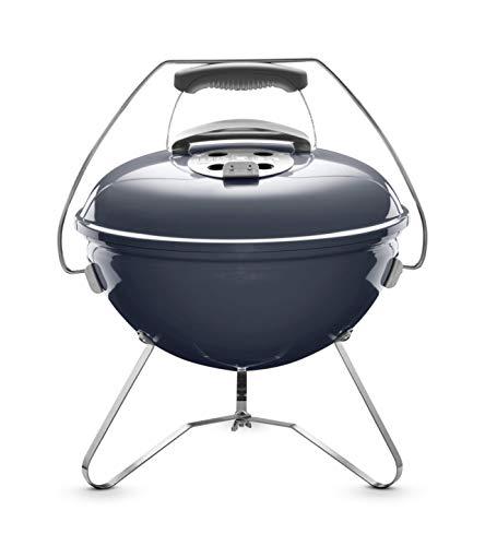 Weber® Smokey Joe Premium, Holzkohlegrill, 37 cm, slate blue, für unterwegs, tragbar, 1126804