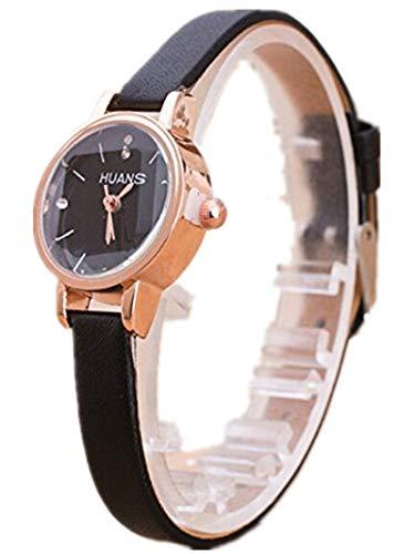 Tensay Damen Armbanduhr Strass Uhr Analog Quarz Uhren mit Lederband Uhrenarmband Uhren Armband Mädchen Frau Einfach Großzügig Armbanduhren - Mädchen Für Uhrenarmbänder