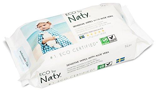 Naty by Nature Babycare Öko Feuchttücher mit Aloe Vera, 12er Pack (12 x 56 Stück) - 4