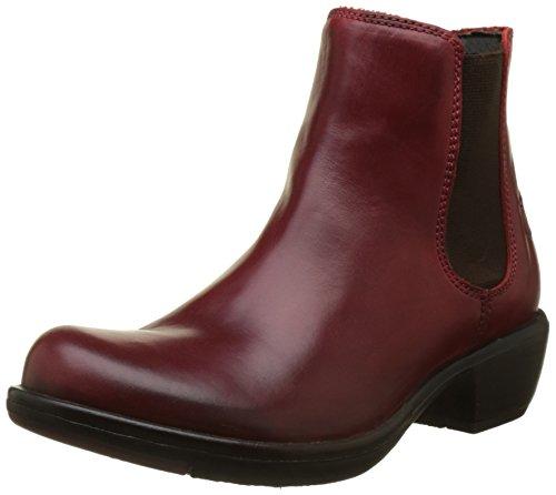 FLY London Damen MAKE Chelsea Boots, Rot (Red 024), 39 EU