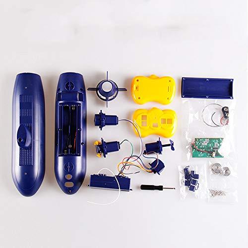 6 Kanäle Fernbedienung Unter Wasser Schiff Wasserdicht RC Boot Modell Kinder DIY Spielzeug Weihnachten Geburtstagsgeschenk Für Kinder Und Erwachsene - 30,5x6,5x11,5 cm ()