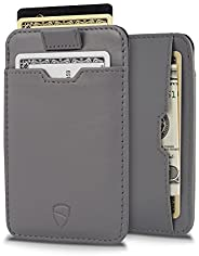 Vaultskin Chelsea ultra-slim leather card-protecting RFID wallet (Black)